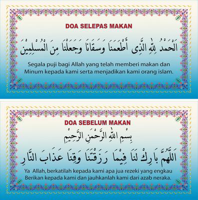 Doa Sebelum Dan Selepas Makan