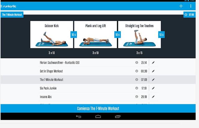 Le 6 migliori applicazioni per i tuoi allenamenti - Runtastic six pack abs
