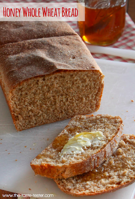 Light and Fluffy 100% Whole Wheat Bread www.the-taste-tester.com #recipe #healthy