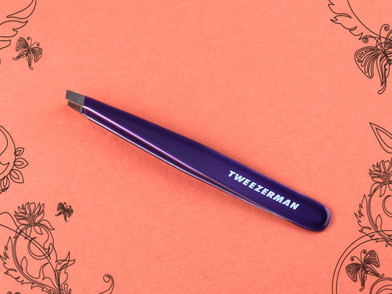 tweezerman slant tweezer brow mousse scissors brush review