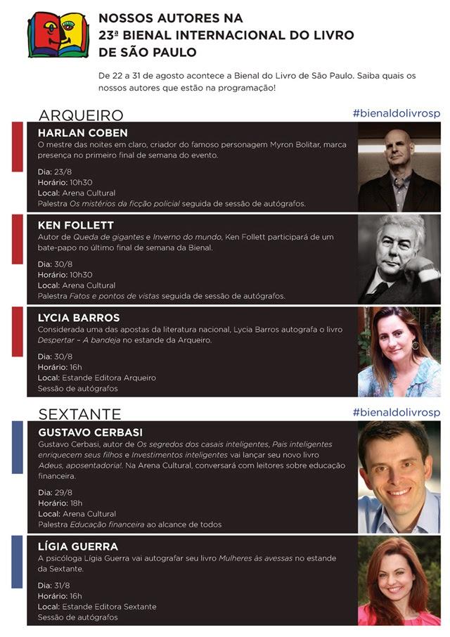 Programação da Bienal de São Paulo - Editora Arqueiro e Sextante