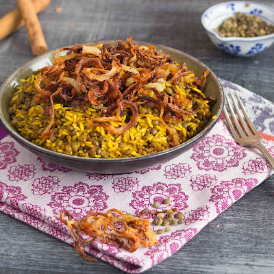 Kid Cultivation: Spiced Lentils and Rice with Crispy Fried Onions