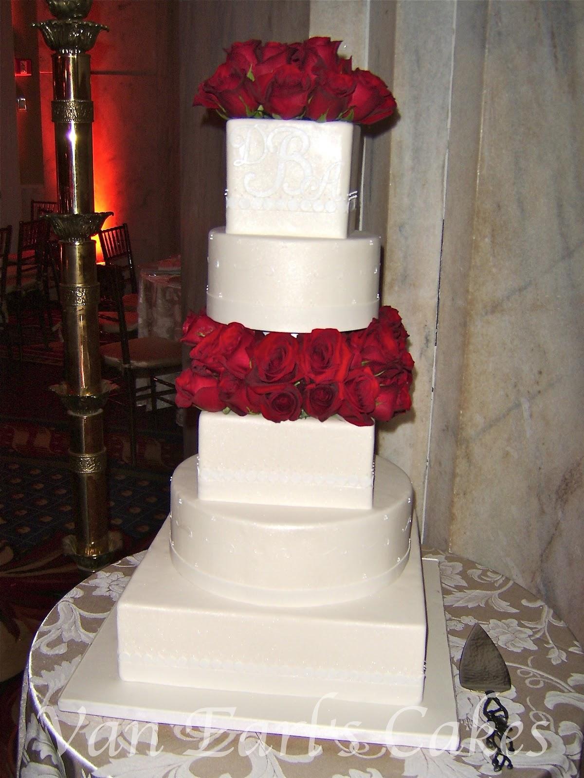 Van Earl\'s Cakes: Red Rose Wedding Cake