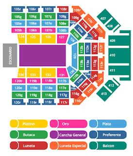 Arena Monterrey mapa de lugares