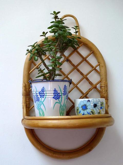 étagère rotin vintage plante cuisine mercredi laurette