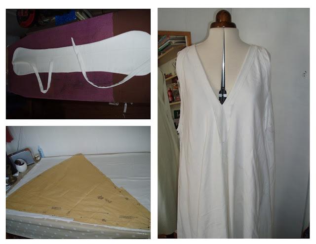vogue 7568 shibori sheet dress