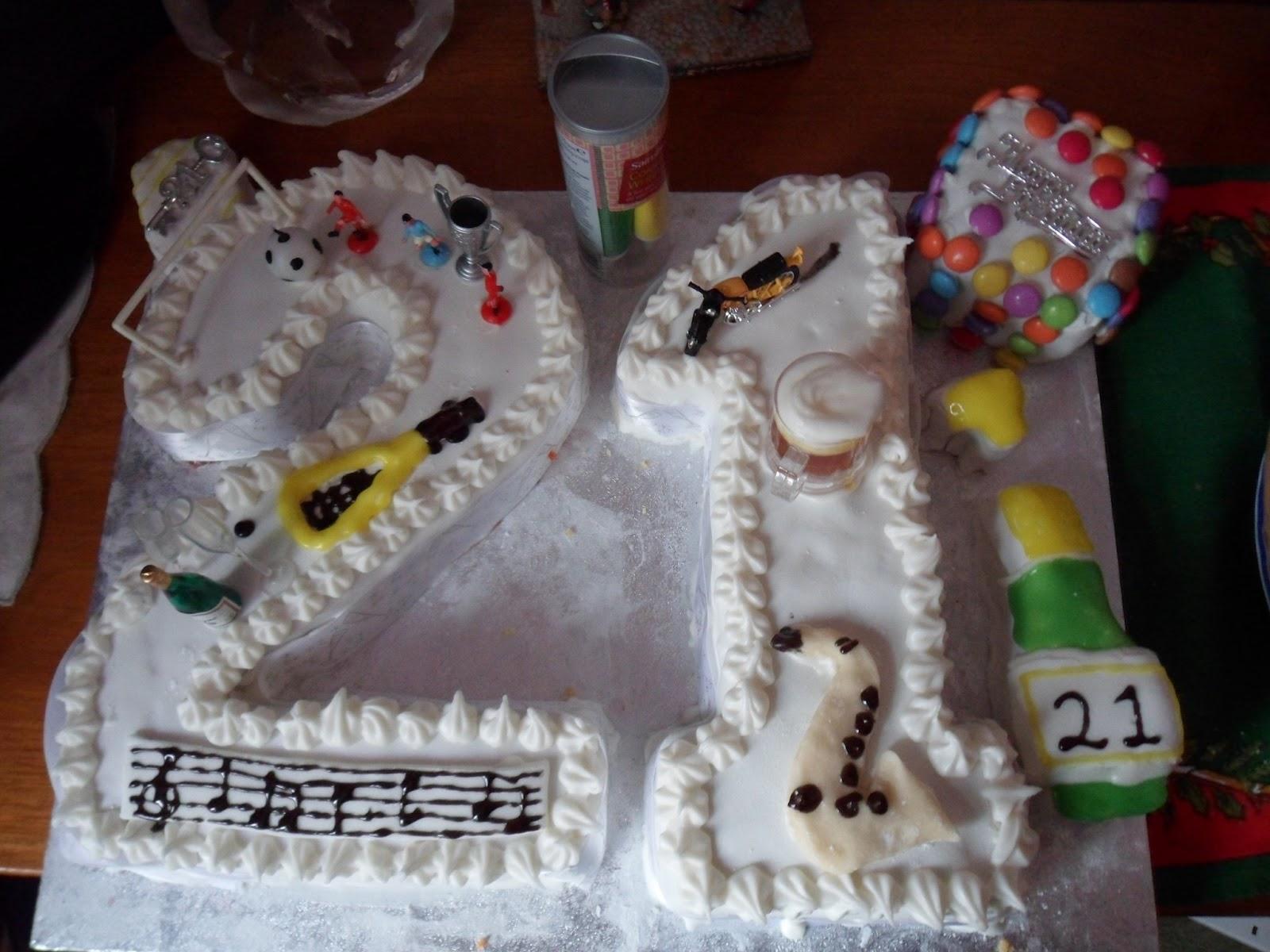Cakes Bakes 21st Birthday Cake For Jon