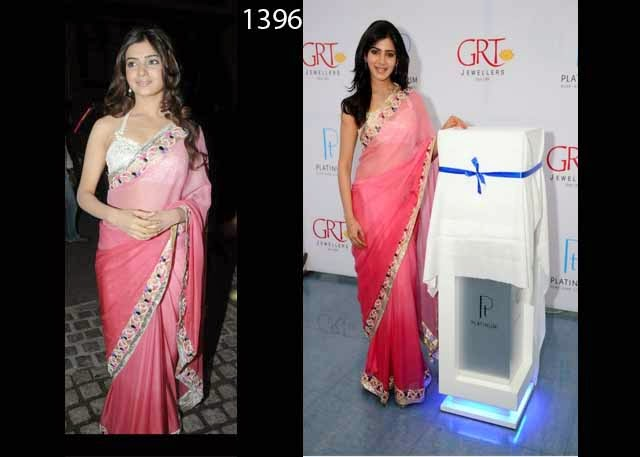 New Designer Bollywood Pink Saree