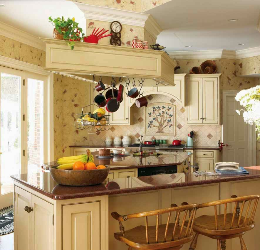 The Best Interior Design: French Country Style Kitchen