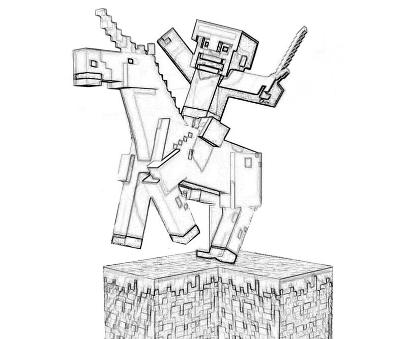 Printable Minecraft Character Coloring Pages title=