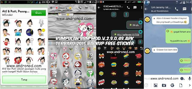 Kumpulan BBM Mod v2.9.0.49 Apk Free Sticker Terbaru 2015