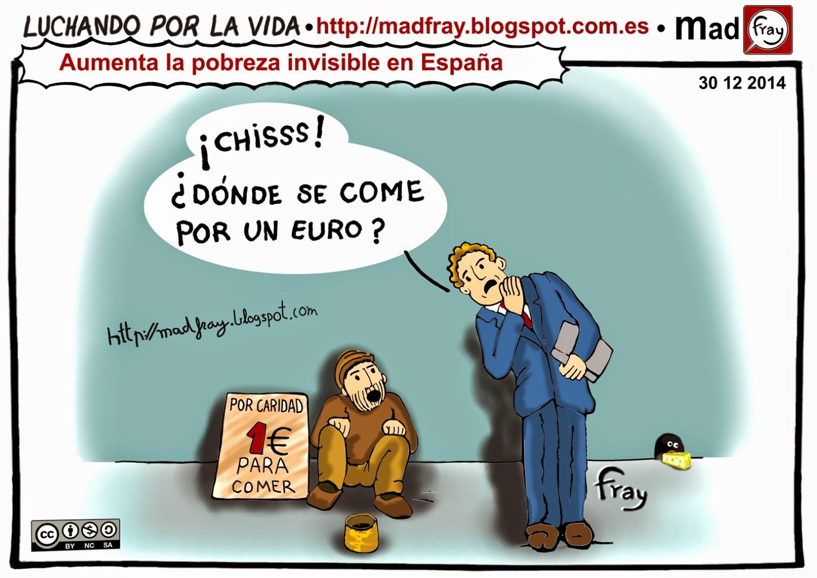 Viñeta, ¡chiss! un euro para comer... ¡chiiss!!¿Donde se come por un euro?