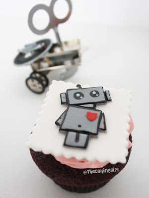 how to make robot cupcakes