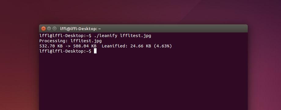 Leanify in Ubuntu
