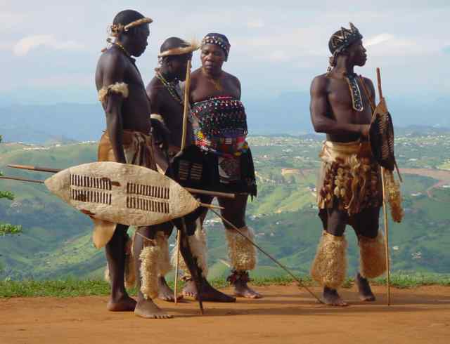 The Zulu tribe in clothes hands madeZulu Tribe