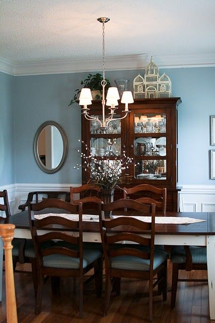 21 rosemary lane kicking around the color blue for my for My dining room 9 course