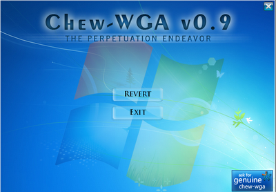 Chew WGA Vesi 0.9 WGA Remover windows7