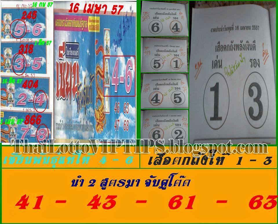 Thai Lotto Sure Digit 16-04-2014