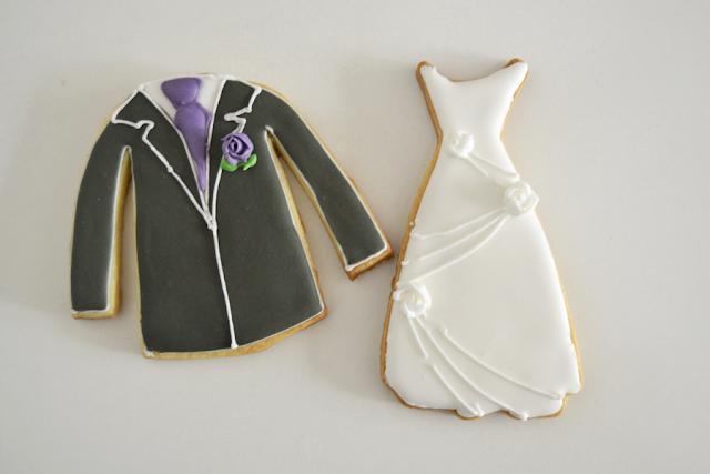 galletas de vestido de novia y de novio 2