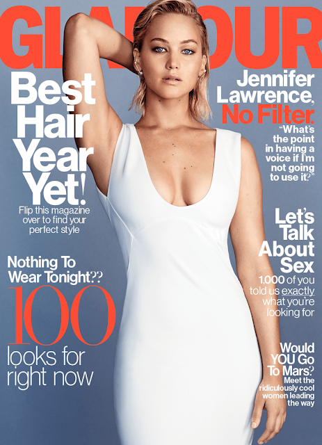 Actress, @ Jennifer Lawrence - Glamour Magazine USA, January 2016