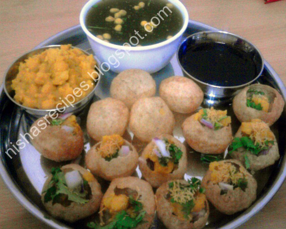Nishas yummy recipes pani puri indian chaat recipe pani puri indian chaat recipe forumfinder Images