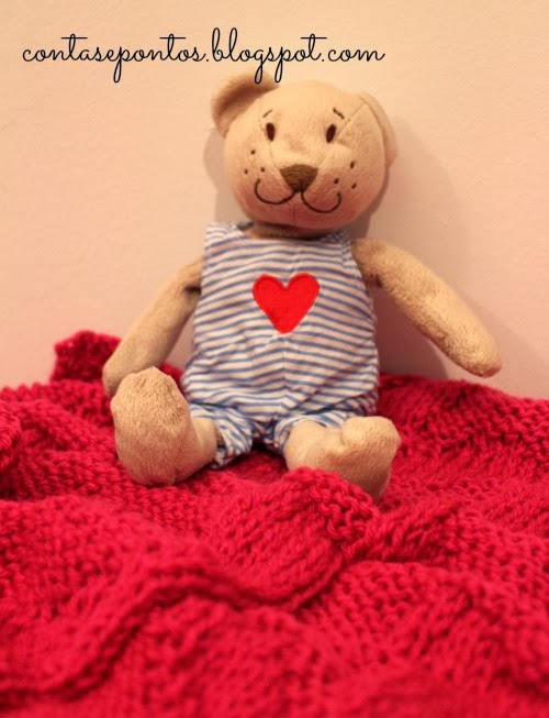 Manta de bebé, tricot