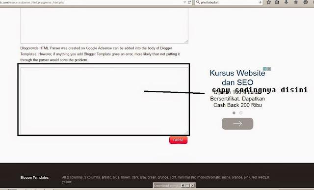 cara menampilkan kode html pada postingan blog
