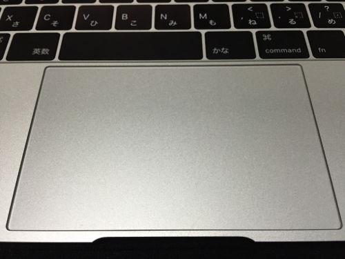 新しいMacBookのトラックパッド