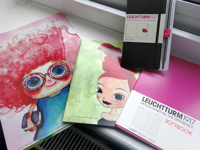 high quality notebooks, Magic Soup stationery, water colour stationery