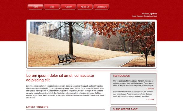 Free Red Autumn Garden CSS Website Template