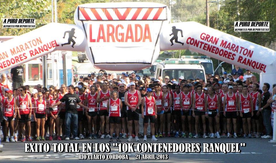 """""""4ta MARATON CONTENEDORES RANQUEL"""" EL 21 ABRIL 2013 EN RIO CUARTO"""