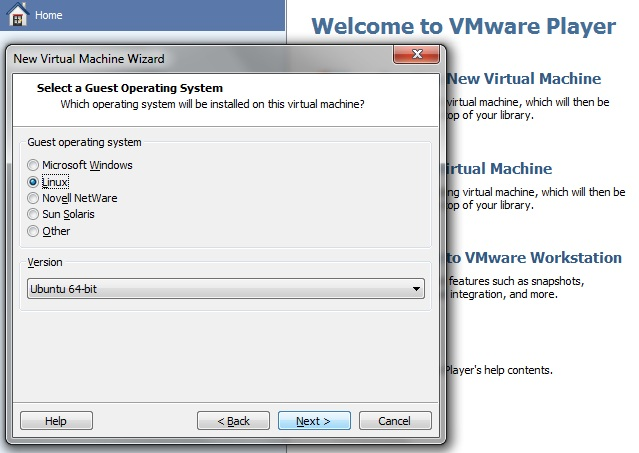 install Linux Mint 12 on VMware Player