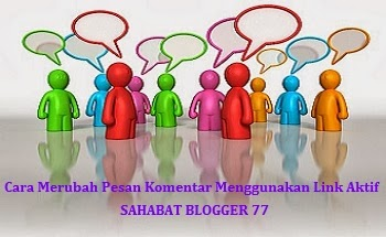 Gambar Komentar Menggunakan Link Aktif