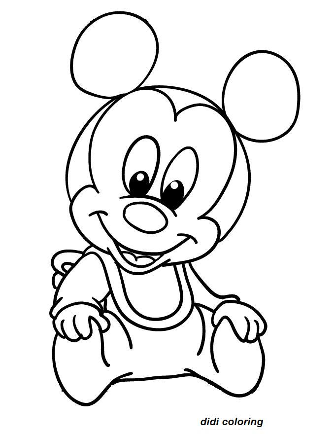 sweet mickey mouse printable coloring page for kids - Didi coloring Page