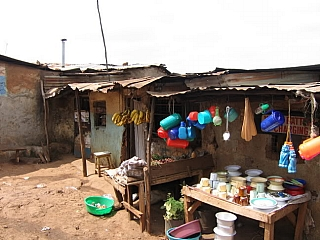 Shopping kiosk in Kibera slums