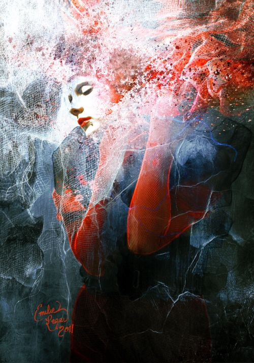 emilie leger foto manipulação digital surreal mulheres modelos sombria Egoísmo