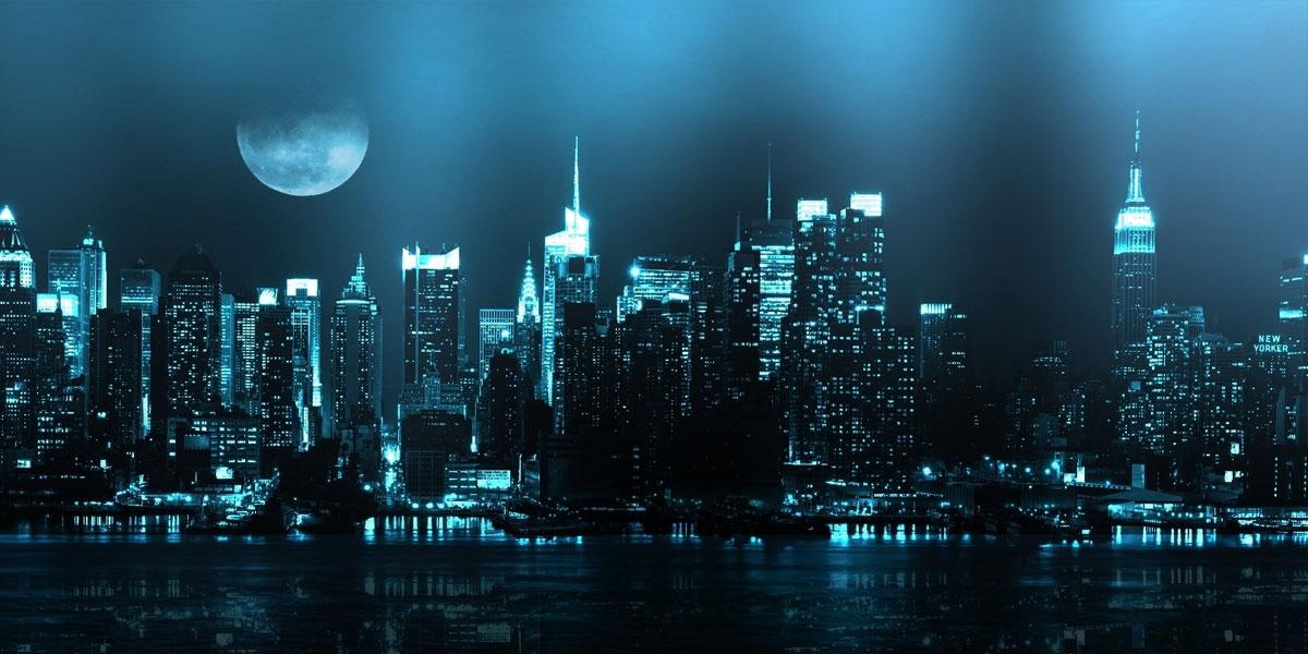 Cityscapes Moon l 300+ Muhteşem HD Twitter Kapak Fotoğrafları
