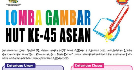 Anime Fun Stuff Lomba Gambar Hut 45 Asean Logo