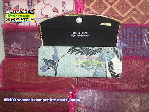 souvenir dompet list emas jumbo grosir