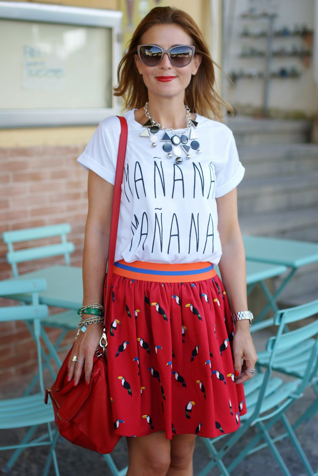 manana manana meaning, manana t-shirt, Givenchy Pandora in red, Fashion and Cookies, fashion blogger