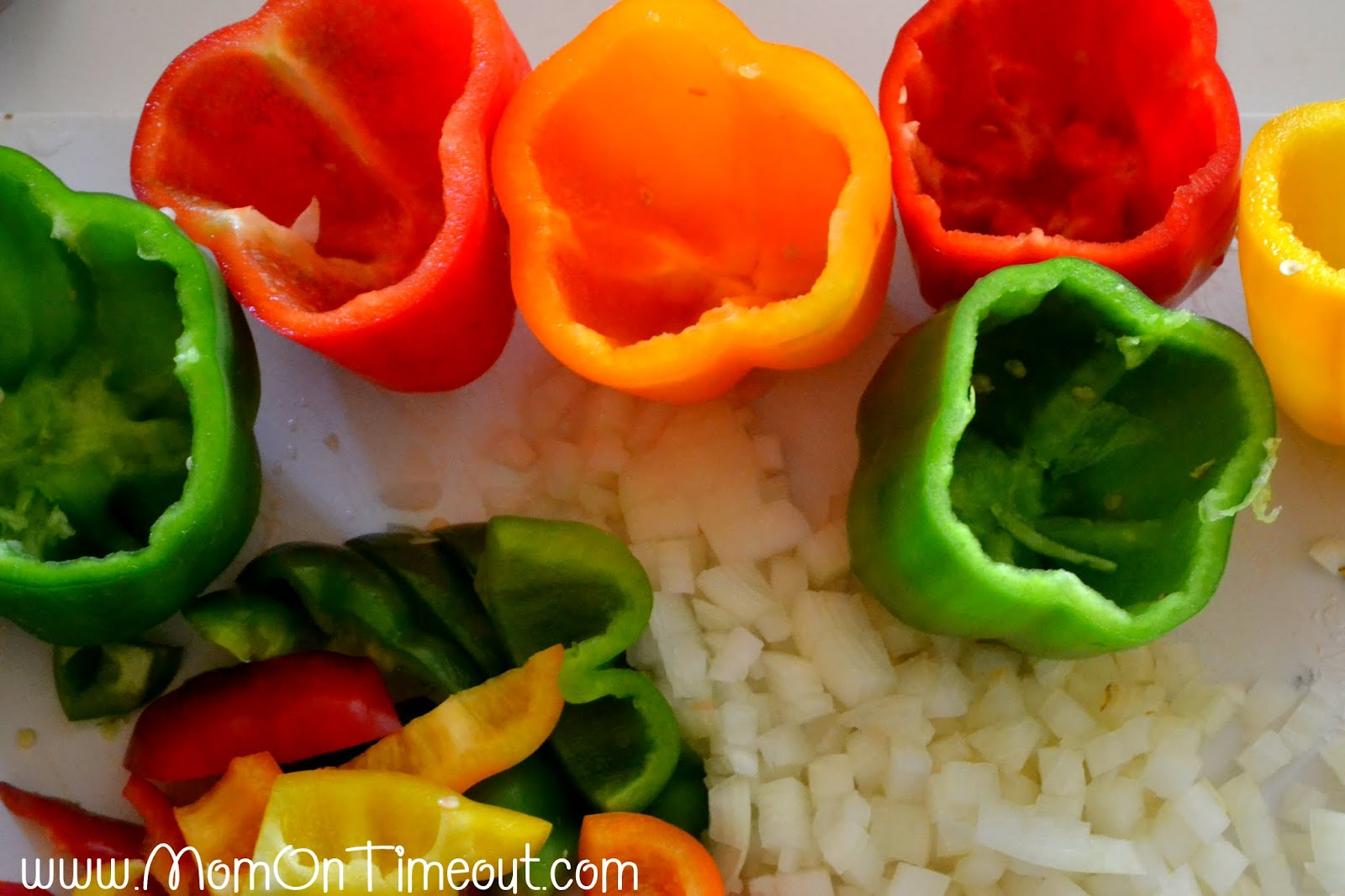 Mom's Stuffed Bell Peppers Recipe — Dishmaps