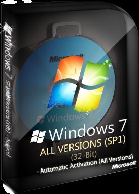 Windows 7 SP1 All Version 32-Bit