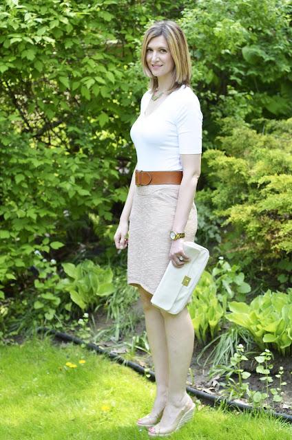 Zamrie Skirt & White Tee