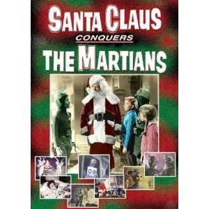 Poster for Santa Claus Conquers the Martians http://movieloversreviews.blogspot.com/2012/12/santa-claus-conquers-martians-1964.html