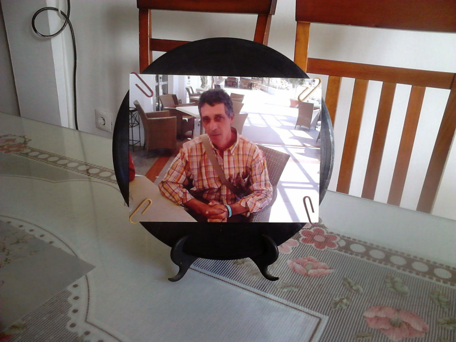 como hacer marco de foto con disco de vinilo- COSTE CERO ...