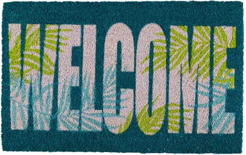 Tropical Palm Welcome Mat