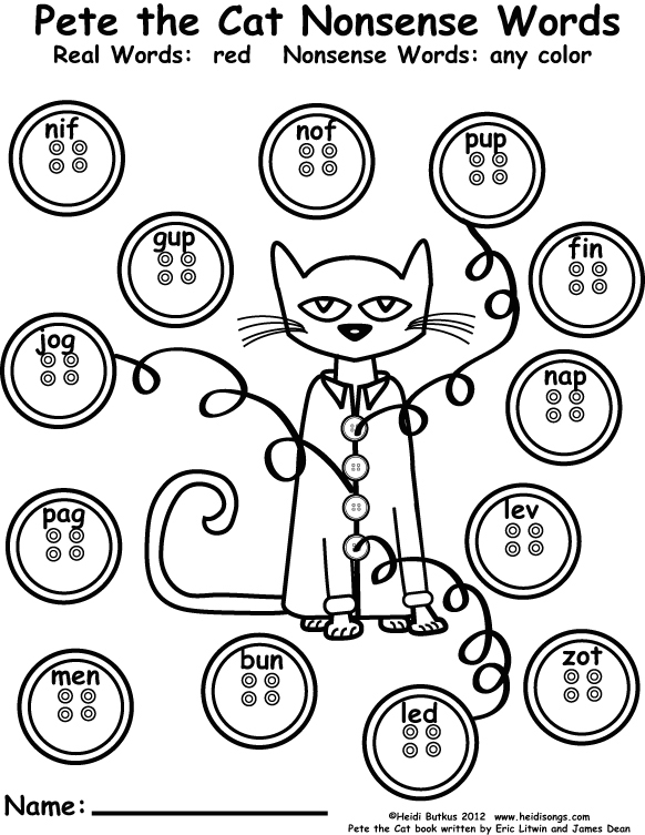Pete the cat freebies guided drawing and more heidi songs for Pete the cat coloring page