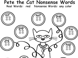 Pete The Cat Four Groovy Buttons Coloring Page