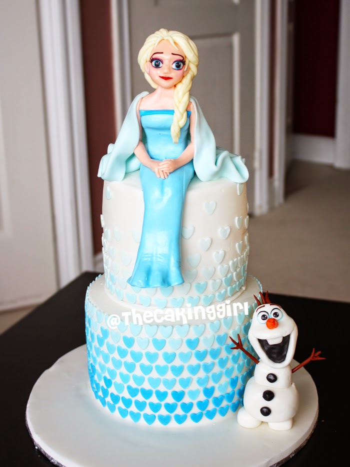 Thecakinggirl My Frozen Elsa Anna Olaf Cake And Cupcake
