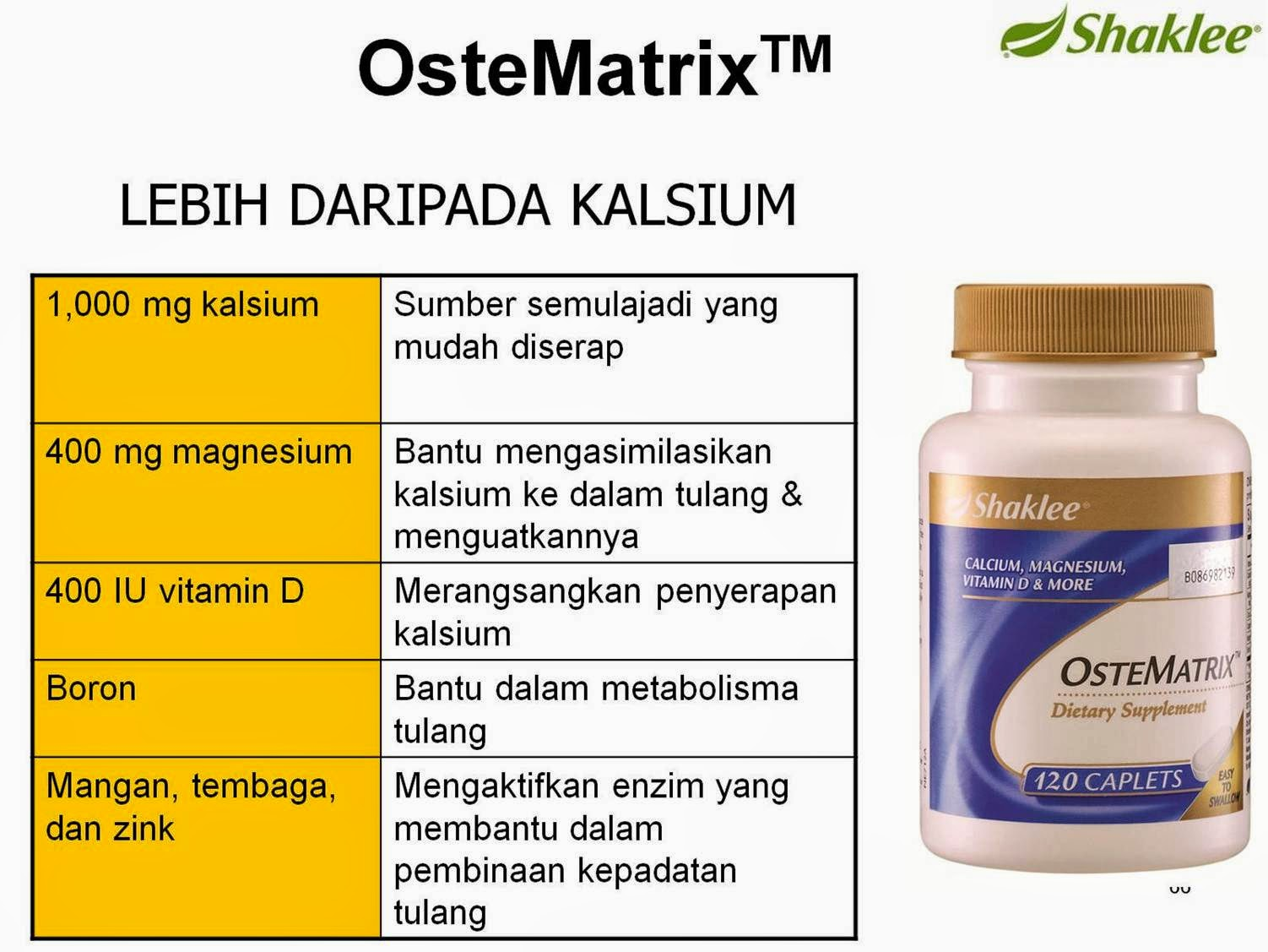 OSTEMATRIX SI PENGUAT TULANG ANDA